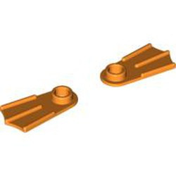 Orange Minifigure, Footgear Flipper - used