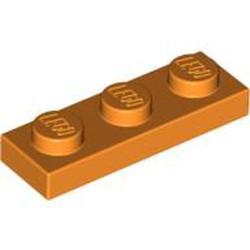 Orange Plate 1 x 3 - used