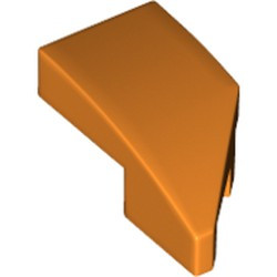 Orange Wedge 2 x 1 with Stud Notch Left - new