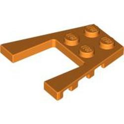 Orange Wedge, Plate 4 x 4 - used