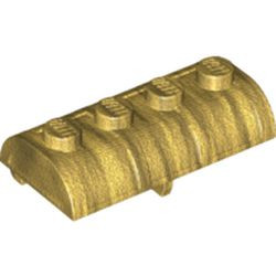 Pearl Gold Container, Treasure Chest Lid - Thick Hinge