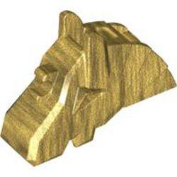 Pearl Gold Horse Battle Helmet, Angular