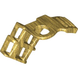 Pearl Gold Minifigure, Armor Shoulder Pad Single with Scabbard for 2 Katanas - used