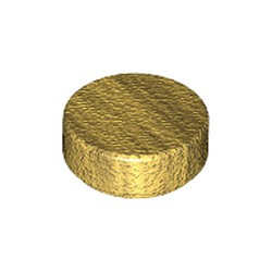 Pearl Gold Tile, Round 1 x 1 - new