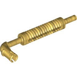 Pearl Gold Vehicle, Exhaust Pipe with Technic Pin, Flat End and Pin with Round Hole - used