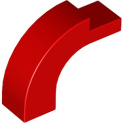 Red Arch 1 x 3 x 2 Curved Top