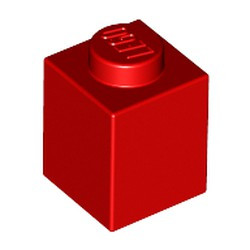 Red Brick 1 x 1 - new