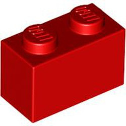 Red Brick 1 x 2 - used