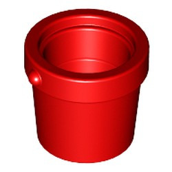 Red Container, Bucket 1 x 1 x 1 Tapered - used