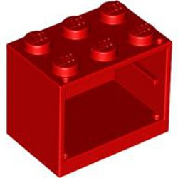 Red Container, Cupboard 2 x 3 x 2 - Solid Studs
