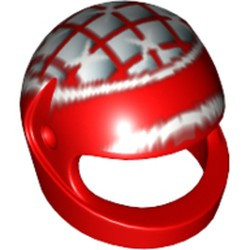Red Minifigure, Headgear Helmet Motorcycle (Standard) with Ferrari M. Schumacher Pattern - used