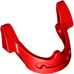 Red Minifigure, Visor Chin Guard - new