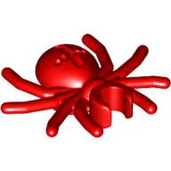 Red Spider with Round Abdomen and Clip