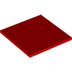 Red Tile 6 x 6 with Bottom Tubes