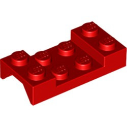 Red Vehicle, Mudguard 2 x 4 with Arch Studded