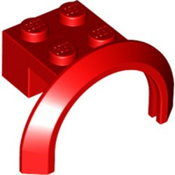 Red Vehicle, Mudguard 4 x 2 1/2 x 1 2/3 with Arch Round