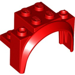Red Vehicle, Mudguard 4 x 2 1/2 x 2 1/3 with Arch Round