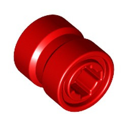 Red Wheel 8mm D. x 9mm (for Slicks), Hole Notched for Wheels Holder Pin, Reinforced Back - new