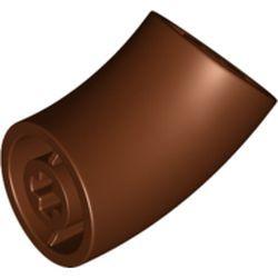 Reddish Brown Brick, Round 2 x 2 D. 45 Degree Elbow