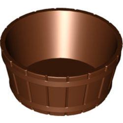 Reddish Brown Container, Barrel Half Large