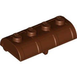 Reddish Brown Container, Treasure Chest Lid - Thick Hinge