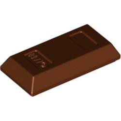 Reddish Brown Minifigure, Utensil Ingot / Bar