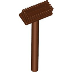 Reddish Brown Minifigure, Utensil Push Broom - new