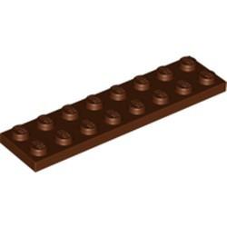 Reddish Brown Plate 2 x 8 - used