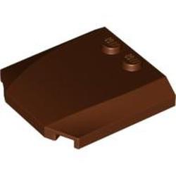 Reddish Brown Wedge 4 x 4 x 2/3 Triple Curved