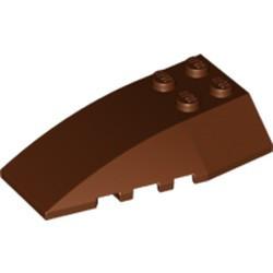 Reddish Brown Wedge 6 x 4 Triple Curved
