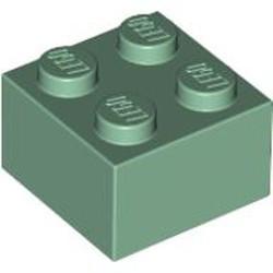 Sand Green Brick 2 x 2