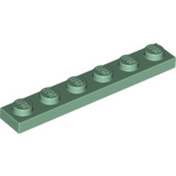 Sand Green Plate 1 x 6 - new