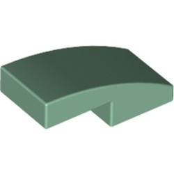Sand Green Slope, Curved 2 x 1 - new