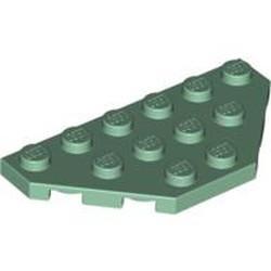Sand Green Wedge, Plate 3 x 6 Cut Corners - new