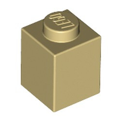Tan Brick 1 x 1 - used