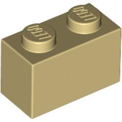 Tan Brick 1 x 2 - new