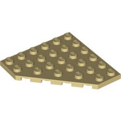 Tan Wedge, Plate 6 x 6 Cut Corner - used