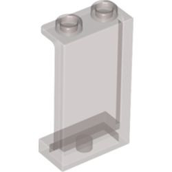 Trans-Black Panel 1 x 2 x 3 with Side Supports - Hollow Studs