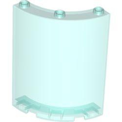 Trans-Light Blue Cylinder Quarter 4 x 4 x 6