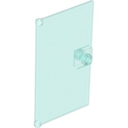 Trans-Light Blue Door 1 x 4 x 6 with Stud Handle - new