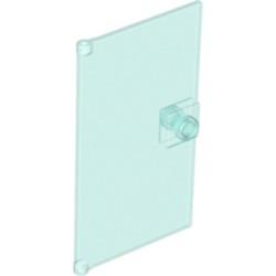 Trans-Light Blue Door 1 x 4 x 6 with Stud Handle