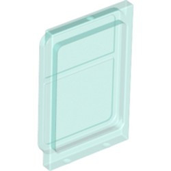 Trans-Light Blue Glass for Train Door with Lip on Top and Bottom - used