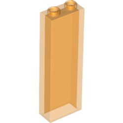 Trans-Orange Brick 1 x 2 x 5 without Side Supports