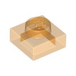 Trans-Orange Plate 1 x 1 - new