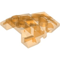 Trans-Orange Wedge 4 x 4 Fractured Polygon Top - used