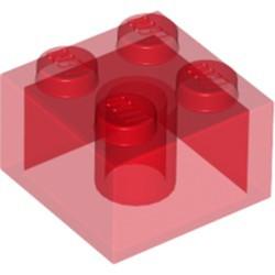 Trans-Red Brick 2 x 2