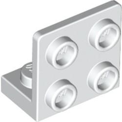 White Bracket 1 x 2 - 2 x 2 Inverted - new