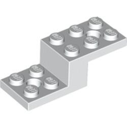 White Bracket 5 x 2 x 1 1/3 with 2 Holes