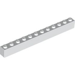 White Brick 1 x 12