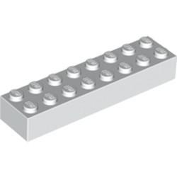 White Brick 2 x 8